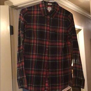 Plaid J.Crew blouse.